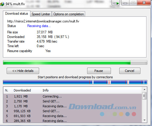 Tải file bằng Internet Download Manager